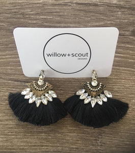 GRACE TASSEL + BLING EARRINGS