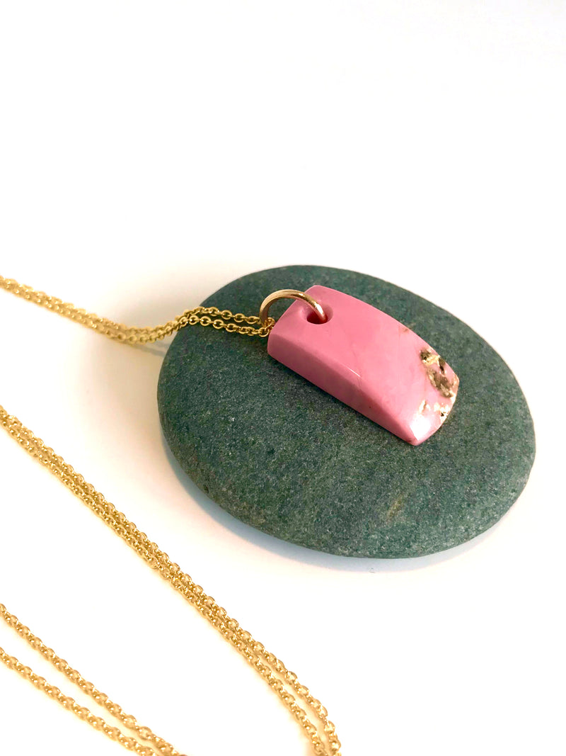 Rhodonite Toki on 9k Gold