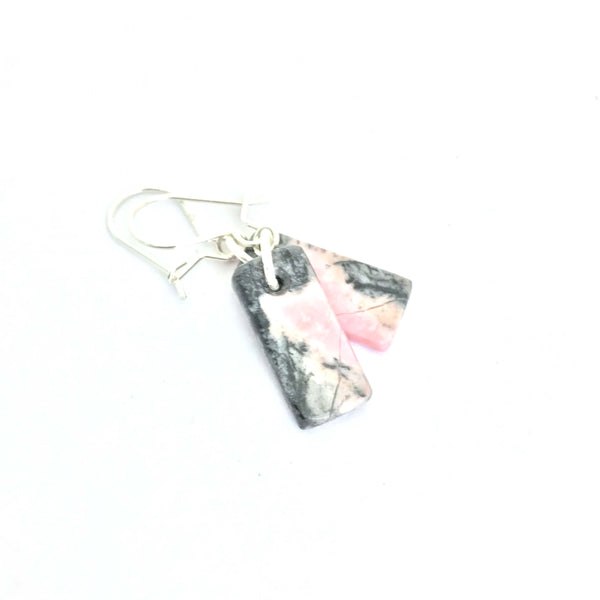 Rhodonite Toki & Sterling Silver Earrings