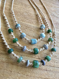 GeoBraid & Gemstone Bead Necklace