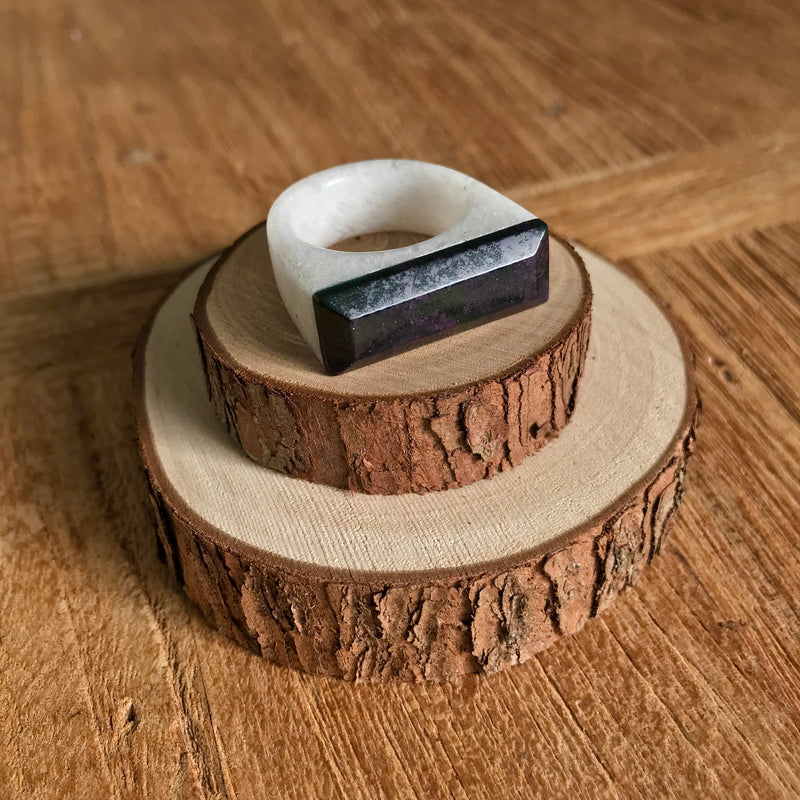 Goodletite & Quartz Ring
