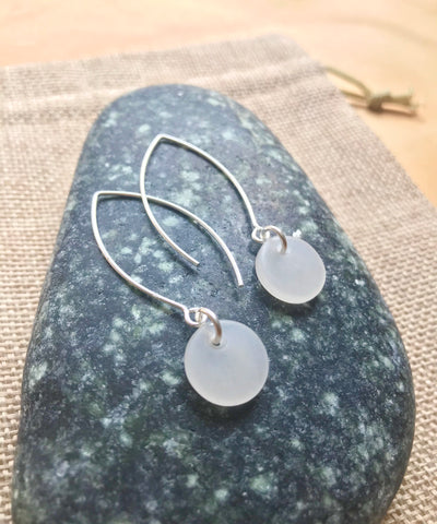 Beach Quartz & Sterling Silver Kopae Earrings