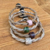 Gemstone Bead GeoBraid Bracelet