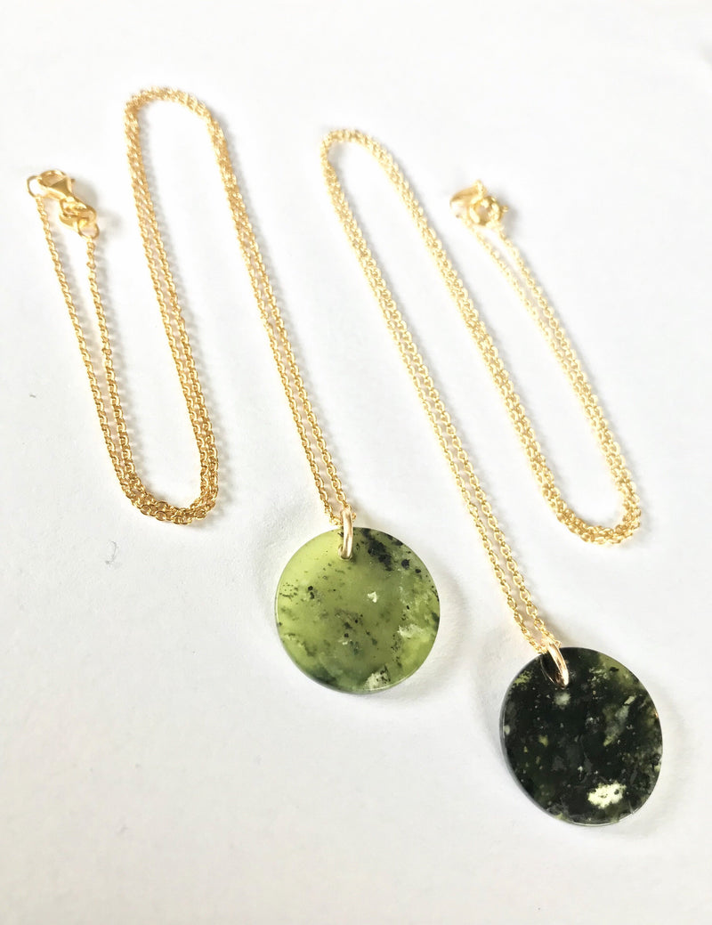 NZ Gemstone & 9k Gold Kopae Necklace