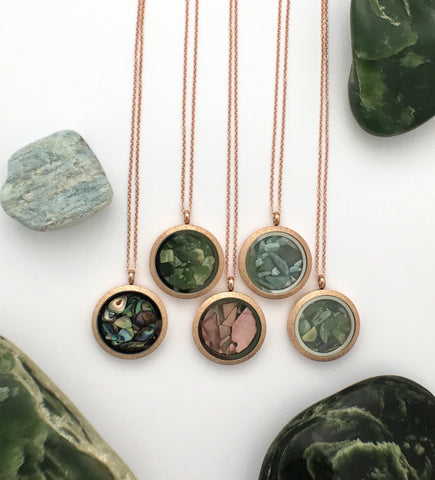 Rose Gold Gemstone Locket