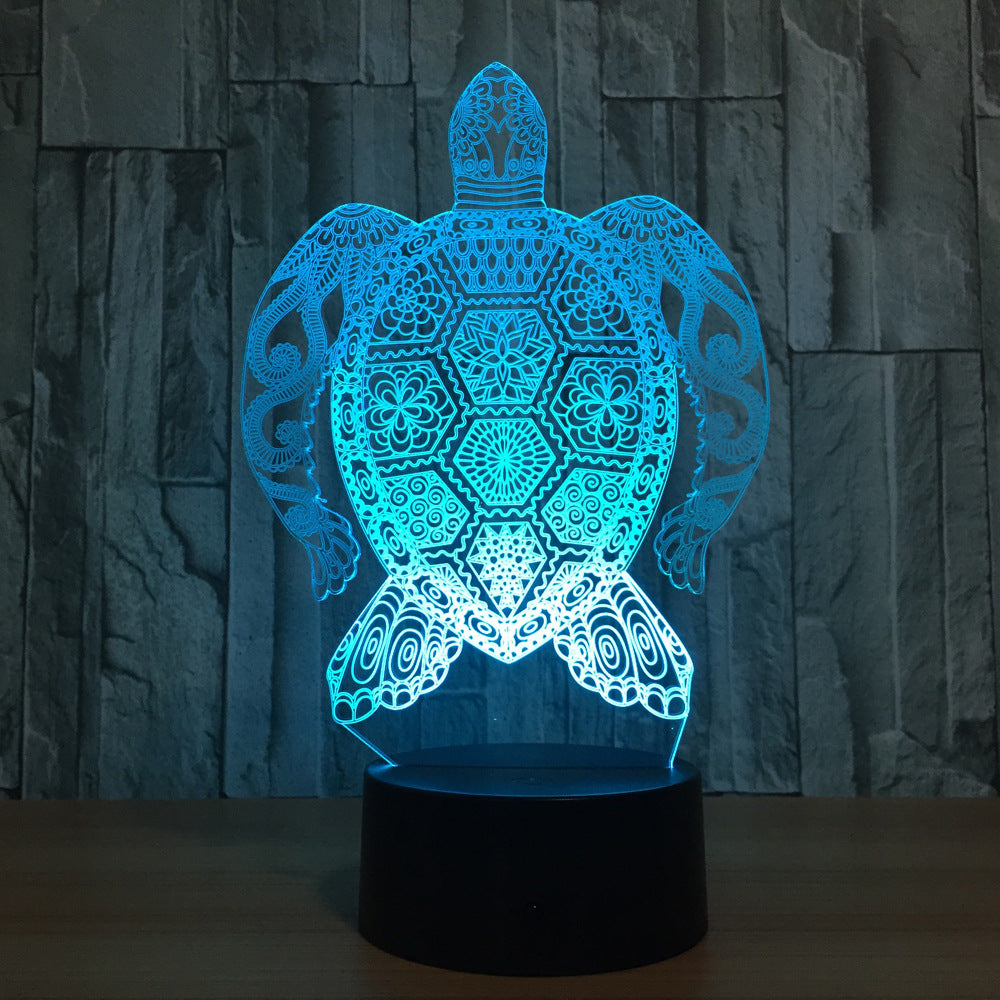 Sea Turtle 3d Led Night Light Table Lamp Lampshomestore Com