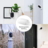 Instacam Reolink Argus 2 WiFi 1080P HD Security IP Camera - 100% Wire Free, Rechargeable BATTERY or Solar Powered, Outdoor IP65 Weatherproof, Starlight Night Vision & 2 Way Audio Capability With Micro SD Slot