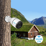 Instacam Reolink GO 4G LTE - 100% Wire Free BATTERY Camera - Works Completely Off The Grid - No Need For WiFi Or Power Outlet