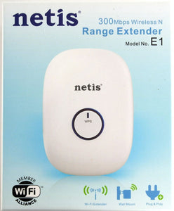 NETIS 300Mbps Wireless N Range Extender - Model E1+ - For Use With Reolink - - IC OTO