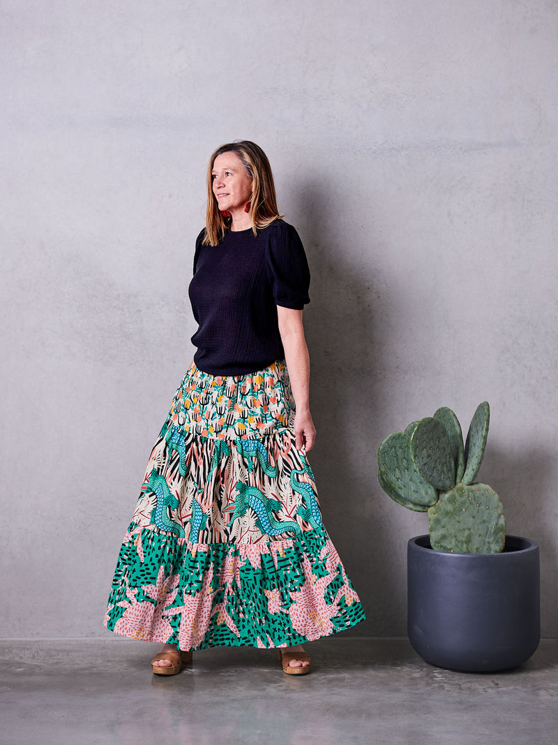 Tiered Maxi Skirt Sewing Pattern