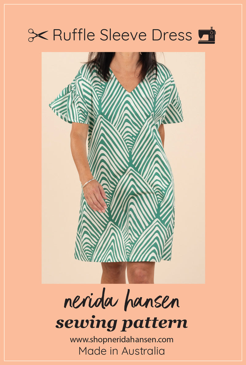 Ruffle Sleeve Dress Sewing Pattern