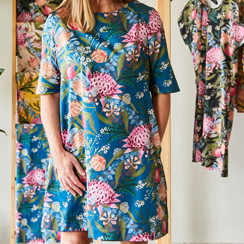Half Sleeve Dress Sewing Pattern