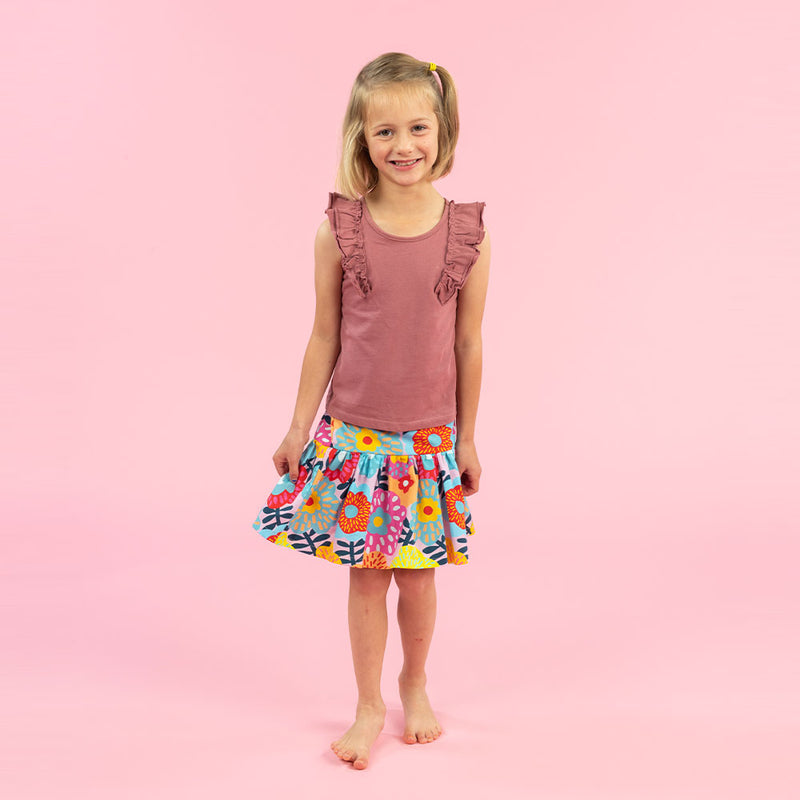 Ruffle Skirt Kids Sewing Pattern