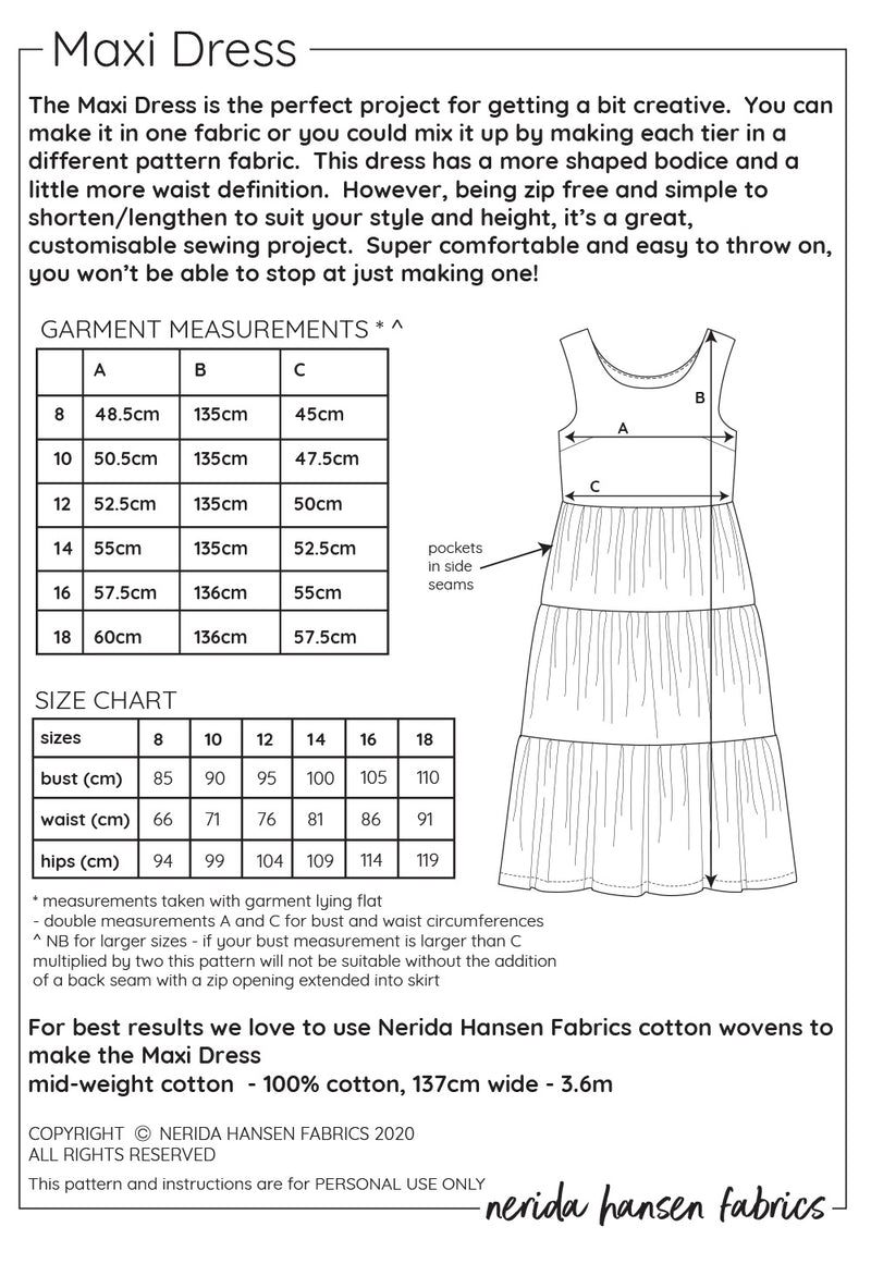 Maxi Dress Sewing Pattern