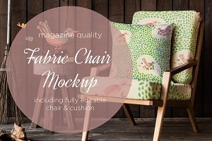fabric chair and cushion mockup