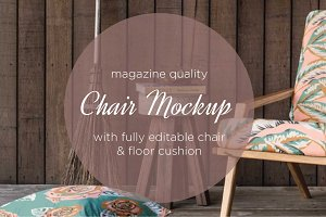 fabric chair mockup