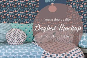 daybed mockup