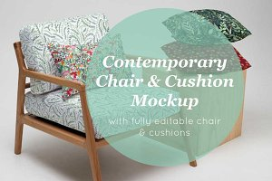 chair and cushion mockup
