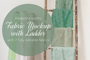 fabric mockup with ladder