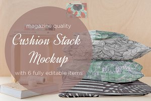 cushion stack mockup