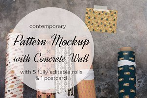 pattern mockup with concrete wall