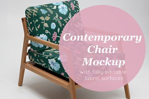 contemporary chair mockup