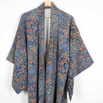 Load image into Gallery viewer, Blue Floral Kimono