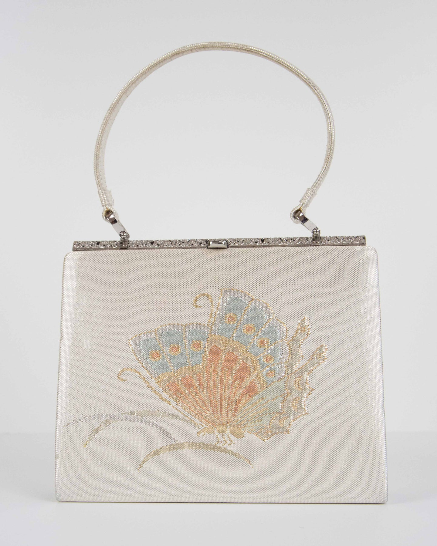 Silk Brocade Butterfly Frame Bag