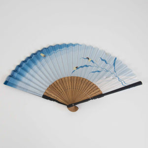 Fireflies Silk Folding Fan