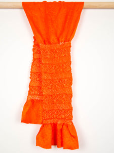 Orange Shibori Obiage