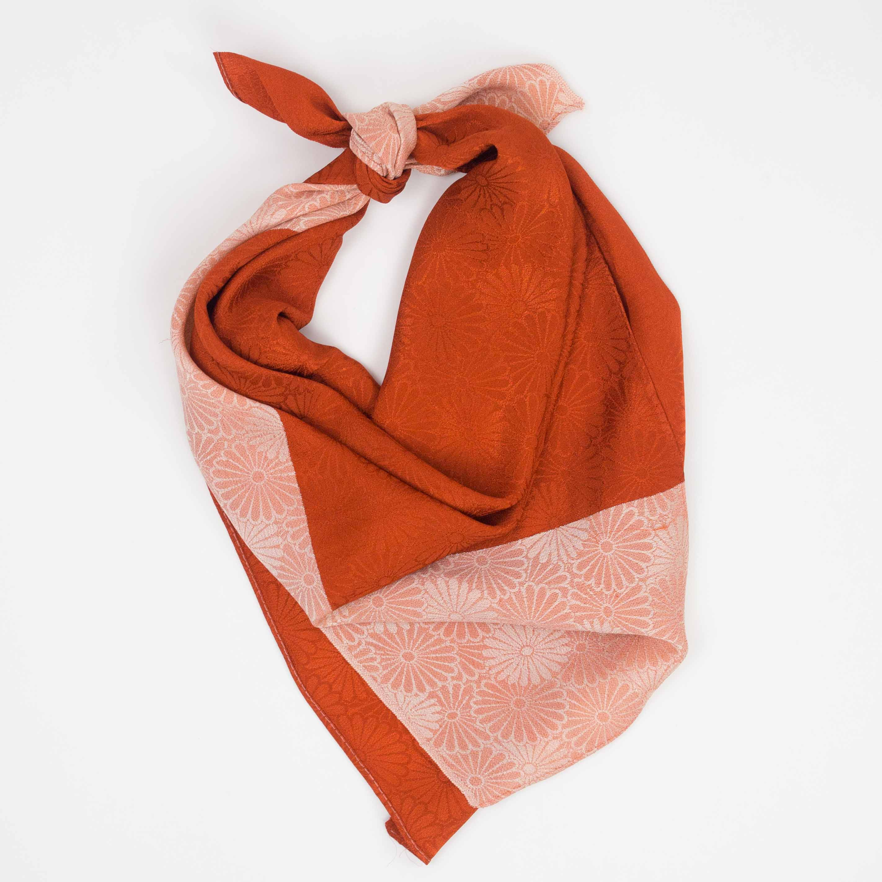 Burnt Orange Rinzu Furoshiki
