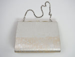 Load image into Gallery viewer, Silver Brocade Evening Bag