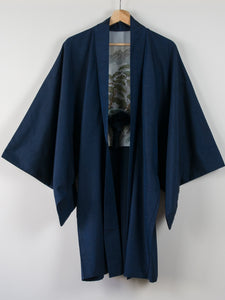 Mens haori with Hand-Painted Landscape