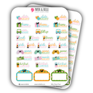 Belle About Town Poolside Digital Planner Stickers