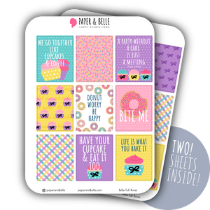 Belle Full Boxes June Planner Stickers