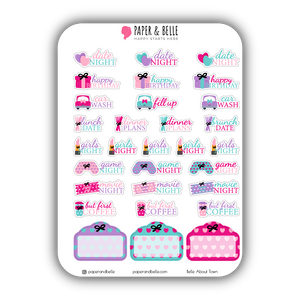 Belle About Town Tulip Fields Planner Stickers