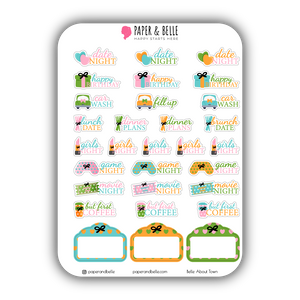 Belle About Town Poolside Planner Stickers