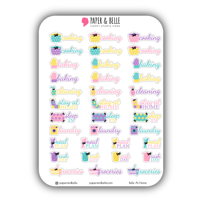 Belle at Home Donuts & Cupcakes Planner Stickers