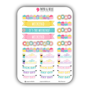 Belle Banners June Planner Stickers