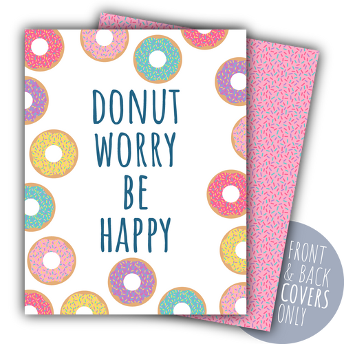 Donut Worry Be Happy Digital Planner Covers