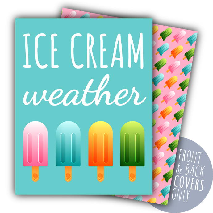Ice Cream Weather Digital Planner Covers