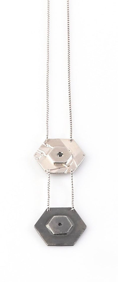 Two Hexagon Necklace