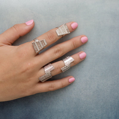 Inbar Shapira Pyramid Ring