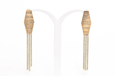 Diamond Earrings with tassels