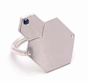 Big Hexagons ring