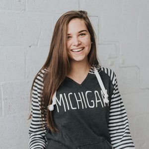 Apparel //  Michigan ~  Striped Comfy Sweatshirt