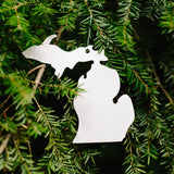 Metal Michigan Ornament