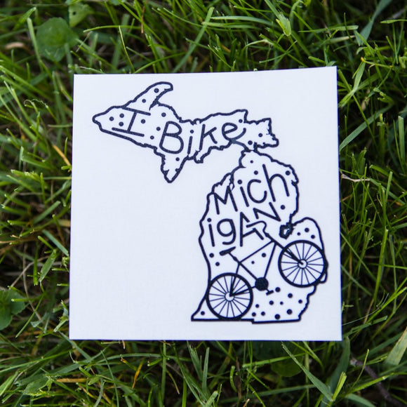 Decal  //  Michigan  ~  Bike Dot