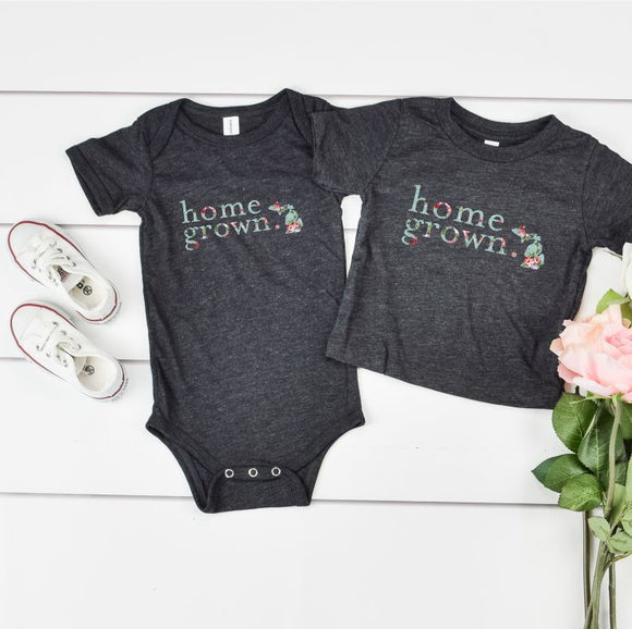 *FLORAL* Michigan Home Grown - Baby Onesie