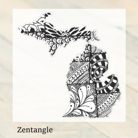 Decal  //  ~ Zentangle Michigan